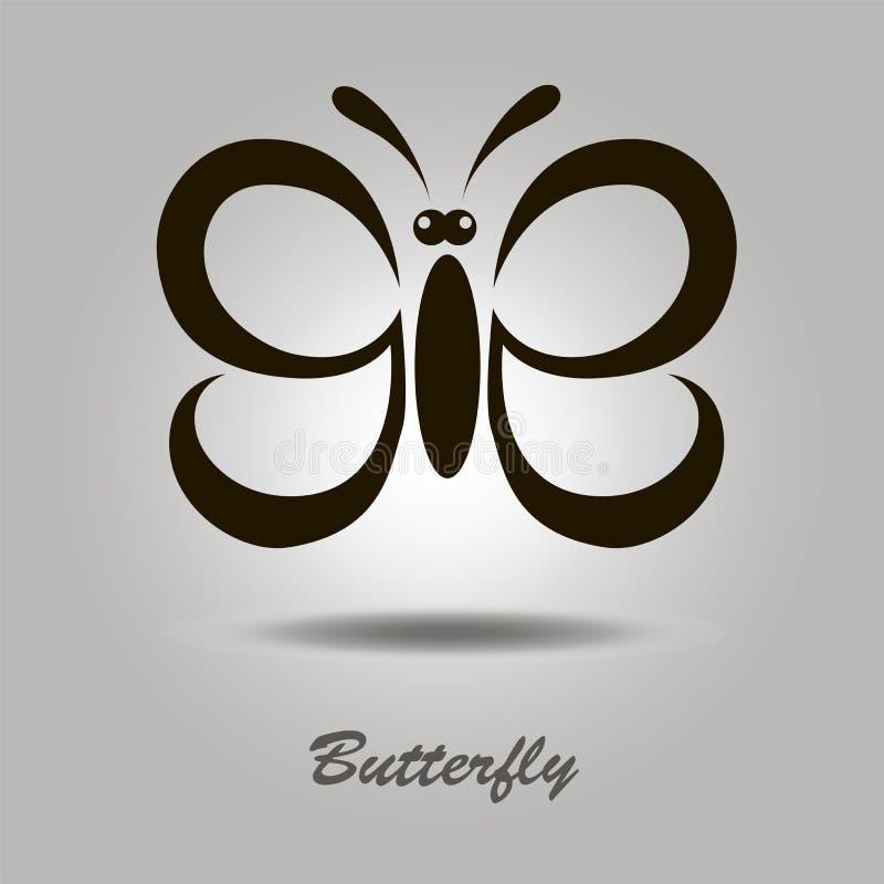 Icona di vettore con la farfalla immagini stock
