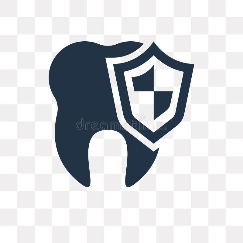 Icona di vettore di cure odontoiatriche isolata su fondo trasparente, ammaccatura illustrazione di stock
