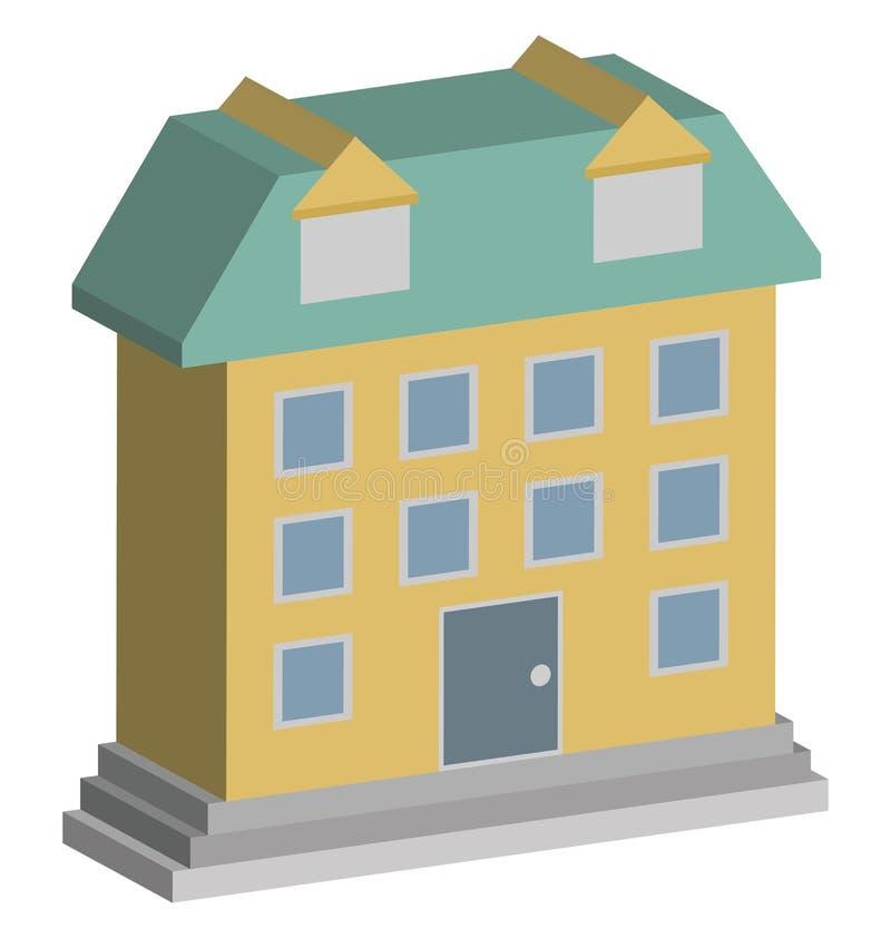 Icona di vettore degli appartamenti della stampa che può modificare o pubblicare facilmente royalty illustrazione gratis