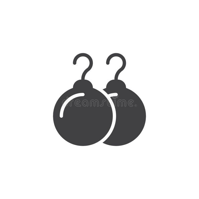 Icona di vettore degli orecchini della perla illustrazione di stock