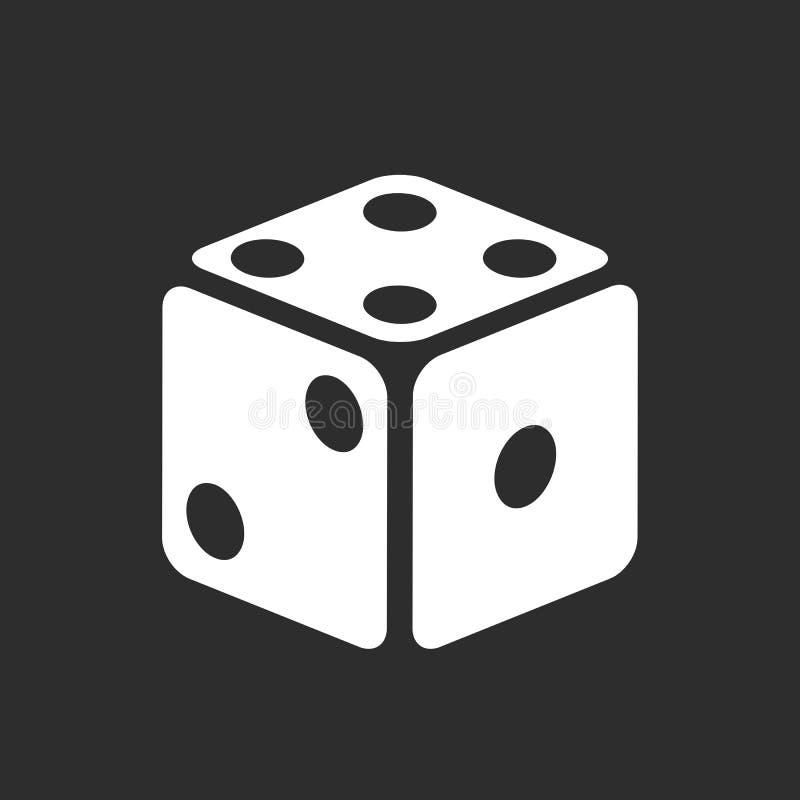 Icona di vettore dei dadi illustrazione vettoriale