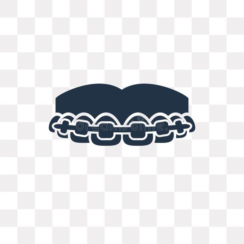 Icona di vettore dei ganci isolata su fondo trasparente, ganci t illustrazione vettoriale