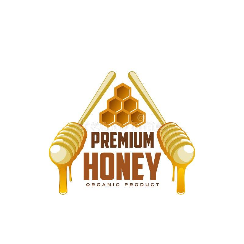 Icona di vettore dei merli acquaioli e del honecomb del miele royalty illustrazione gratis