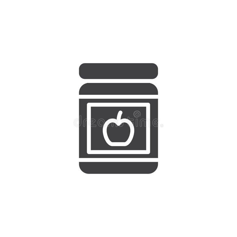 Icona di vettore del barattolo dell'inceppamento di Apple royalty illustrazione gratis