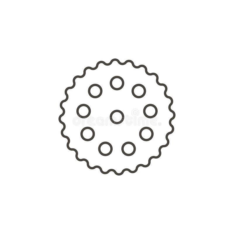 Icona di vettore del biscotto Illustrazione semplice dell'elemento dal concetto dell'alimento Icona di vettore del biscotto Illus illustrazione di stock