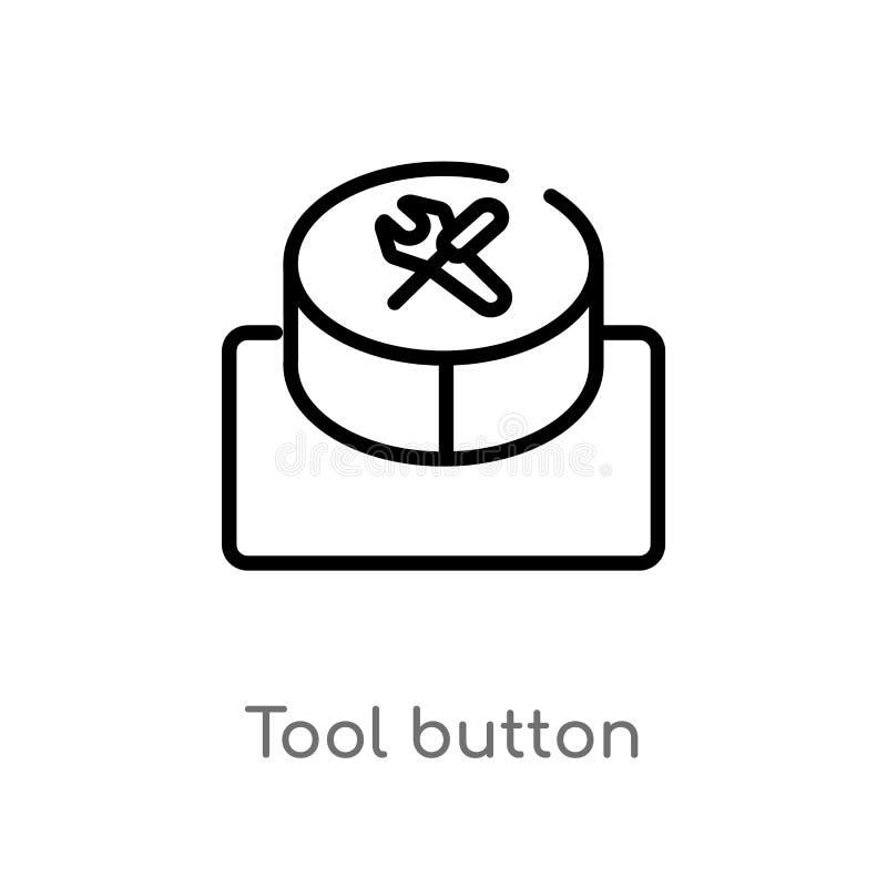 icona di vettore del bottone dello strumento del profilo linea semplice nera isolata illustrazione dell'elemento dal concetto di  illustrazione vettoriale
