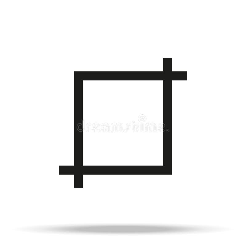 Icona di vettore del bottone dello strumento del raccolto su fondo bianco royalty illustrazione gratis