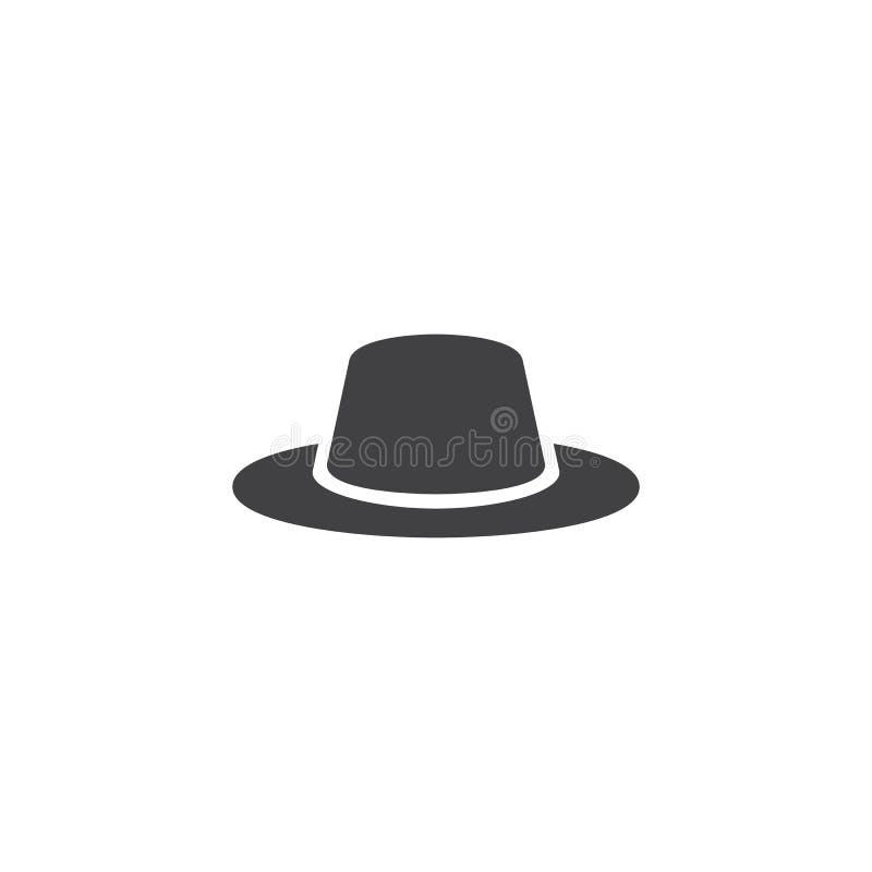 Icona di vettore del cappello degli uomini illustrazione vettoriale