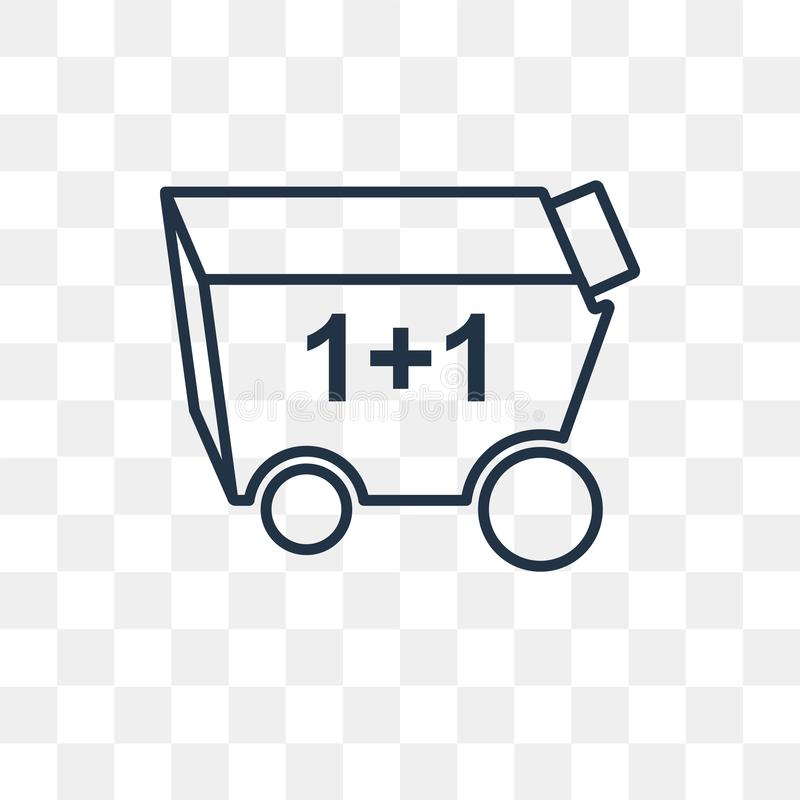 Icona di vettore del carrello isolata su fondo trasparente, Li royalty illustrazione gratis