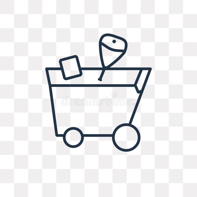 Icona di vettore del carrello isolata su fondo trasparente, Li illustrazione vettoriale