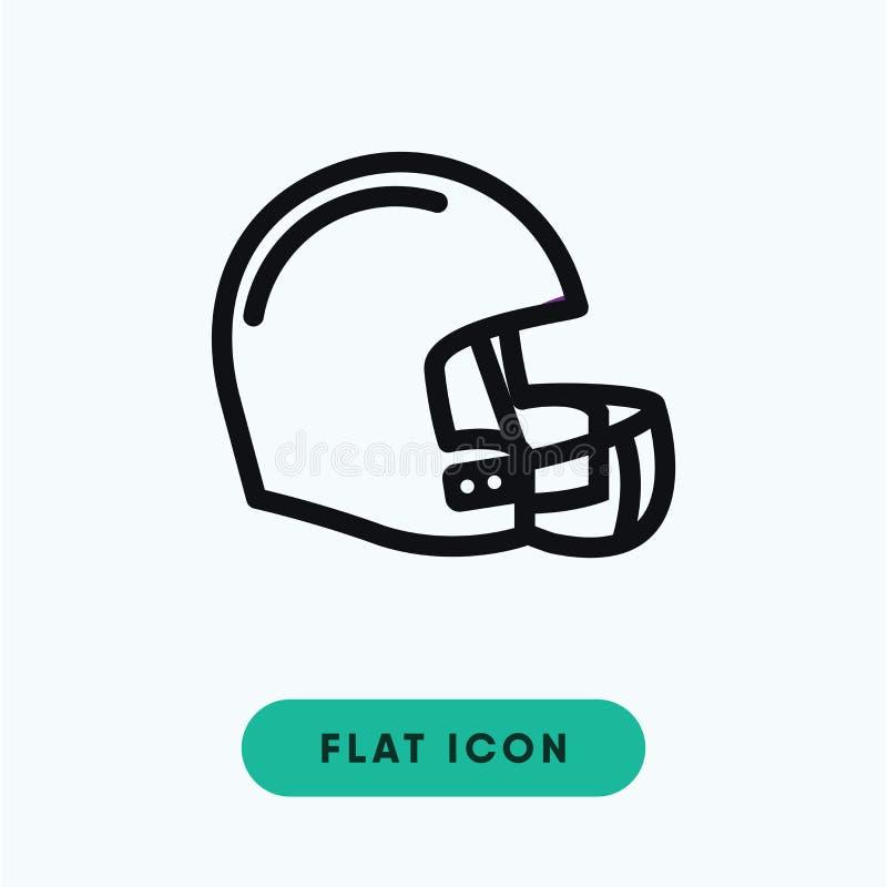 Icona di vettore del casco di calcio immagine stock