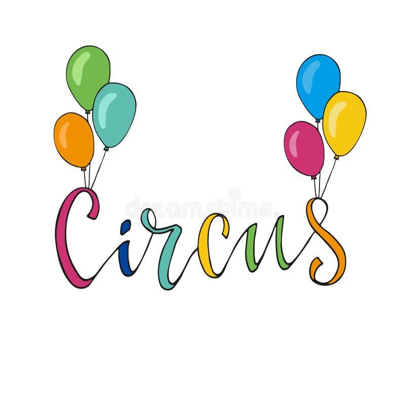 Icona di vettore del circo Insegna disegnata a mano Decorazione di festival royalty illustrazione gratis
