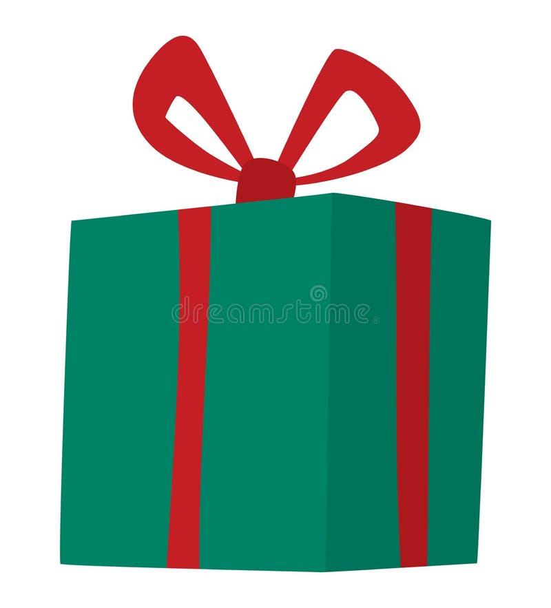 Icona di vettore del contenitore di regalo isolata illustrazione vettoriale