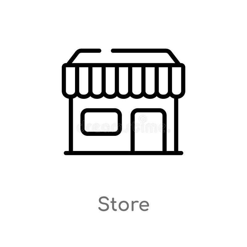 icona di vettore del deposito del profilo linea semplice nera isolata illustrazione dell'elemento dal concetto dell'interfaccia u illustrazione di stock