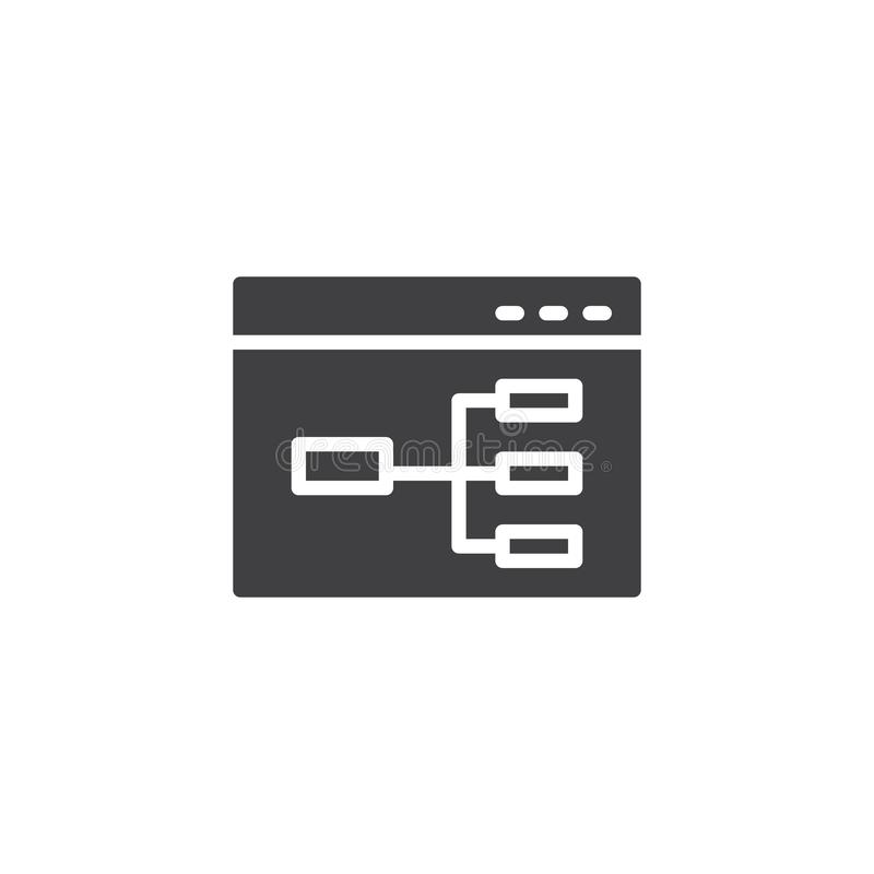 Icona di vettore del diagramma di flusso del sito Web illustrazione vettoriale