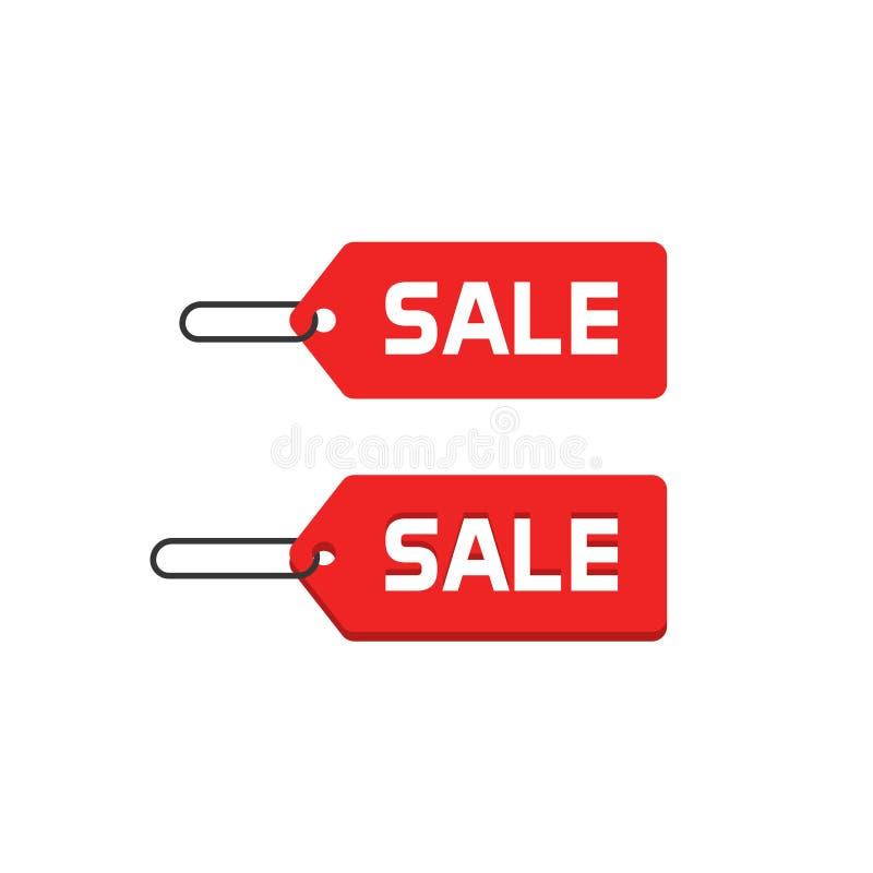 Icona di vettore del distintivo di vendita, etichetta piana di sconto di progettazione isolata sull'autoadesivo di promozione di  royalty illustrazione gratis