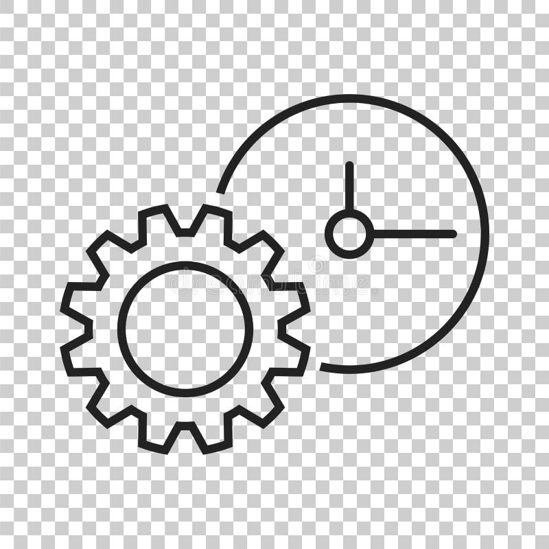 Icona di vettore del documento Illustrazione piana della gestione di progetti illustrazione di stock