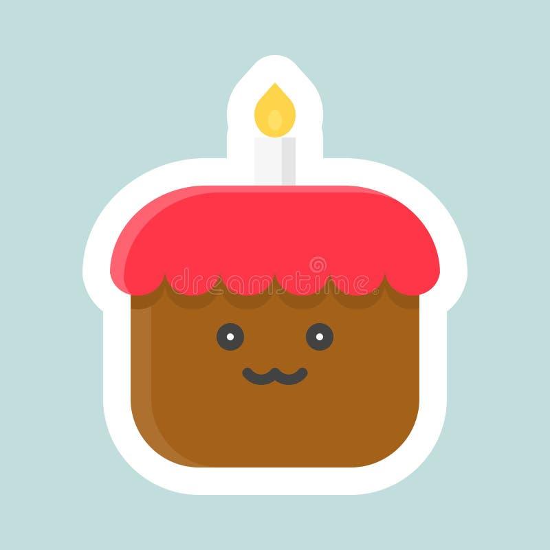 Icona di vettore del dolce, Pasqua ed autoadesivo piano della molla royalty illustrazione gratis