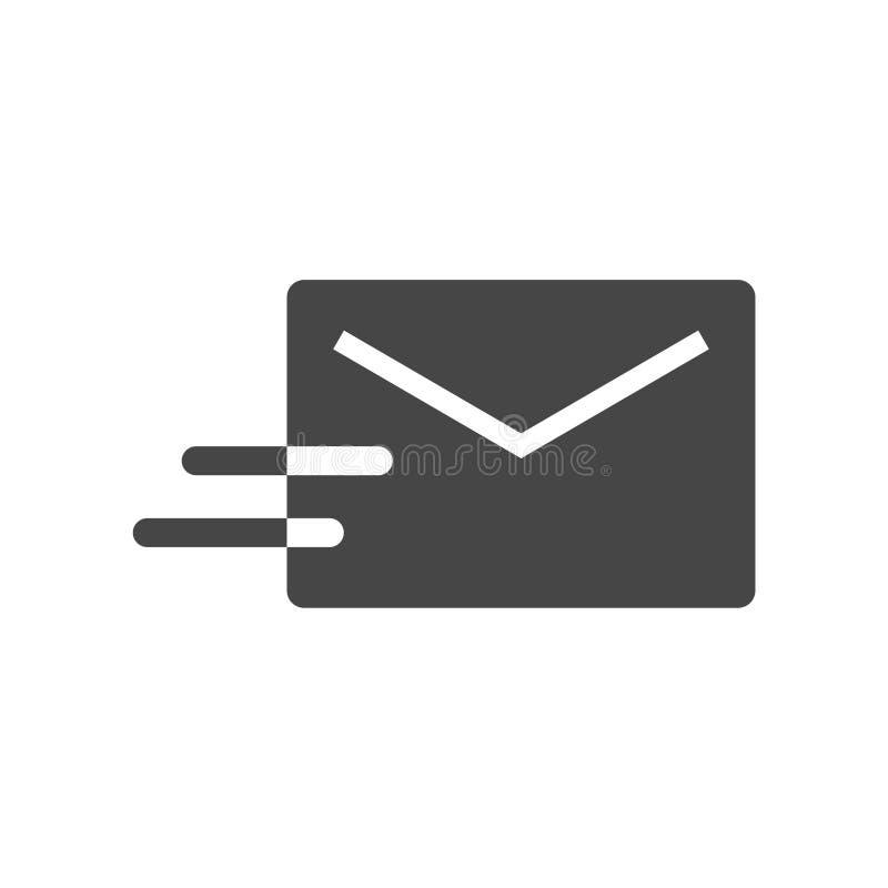 Icona di vettore del email, icona del email illustrazione di stock