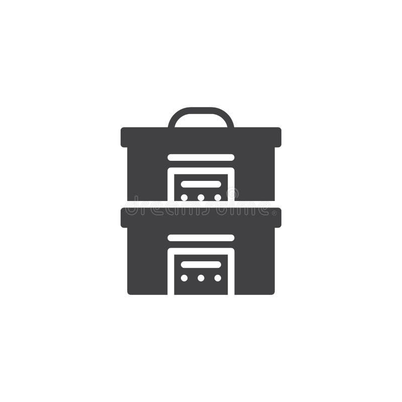Icona di vettore del fornello del vapore della cucina royalty illustrazione gratis