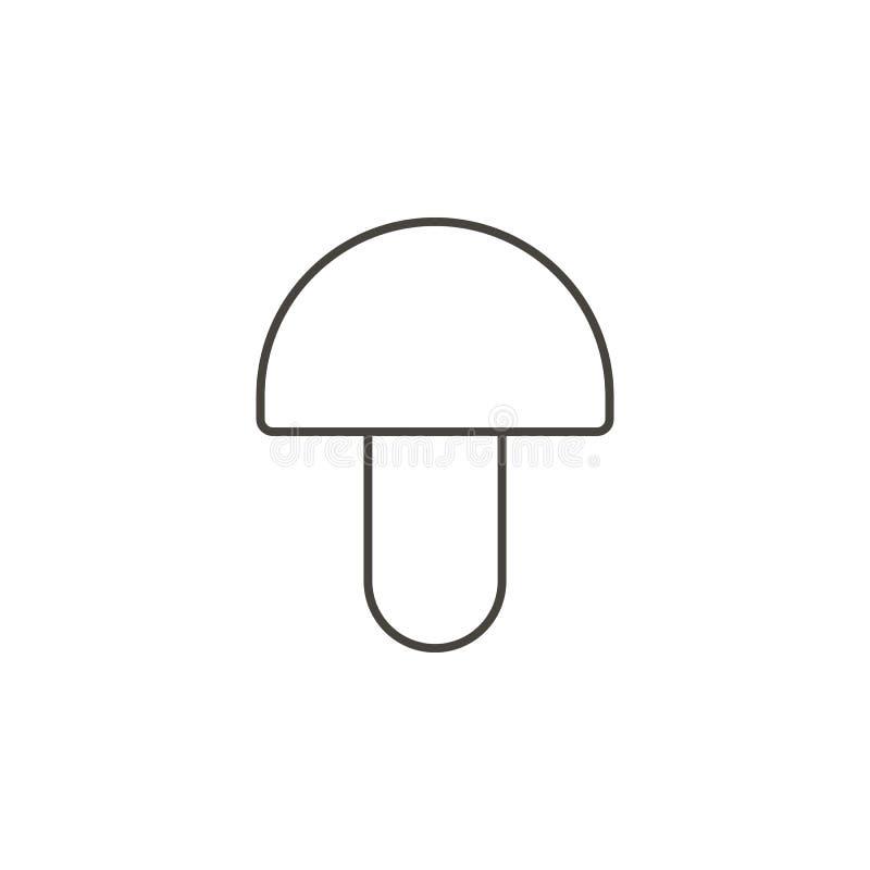Icona di vettore del fungo Illustrazione semplice dell'elemento dal concetto dell'alimento Icona di vettore del fungo Illustrazio illustrazione vettoriale