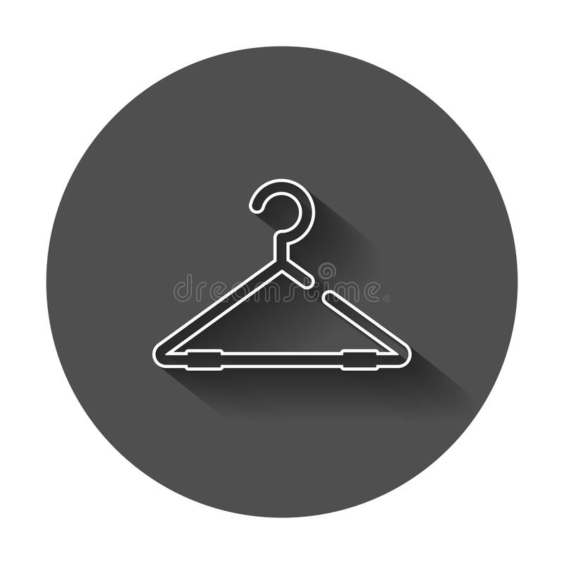 Icona di vettore del gancio nella linea stile Gancio del guardaroba royalty illustrazione gratis