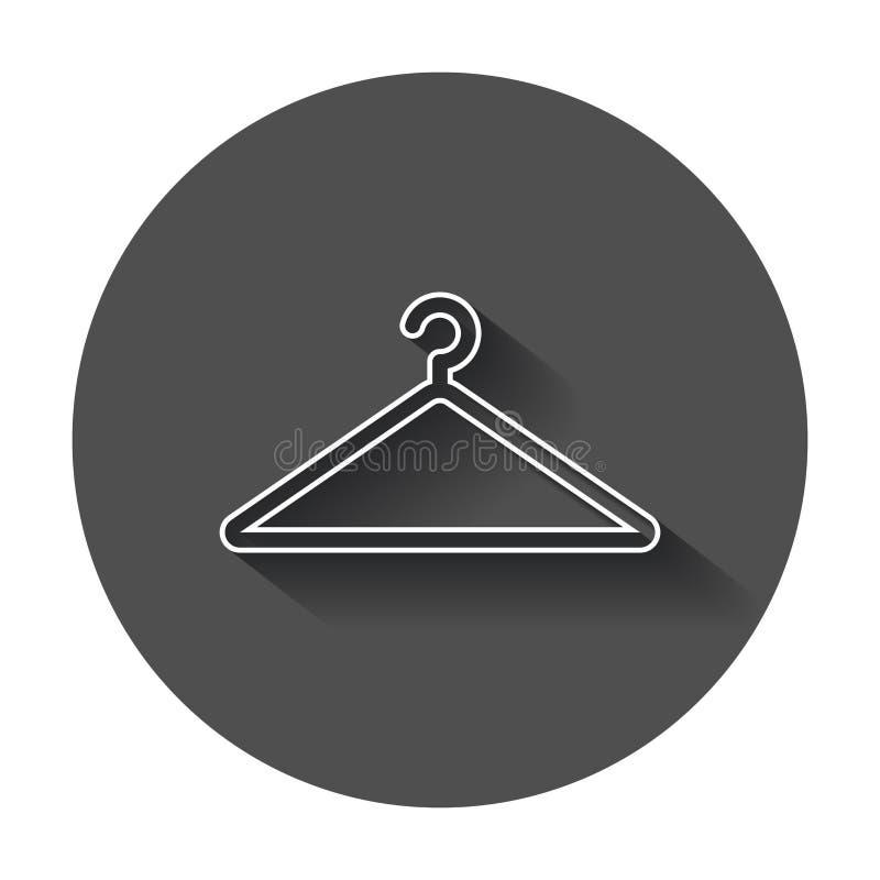 Icona di vettore del gancio nella linea stile Gancio del guardaroba illustrazione vettoriale