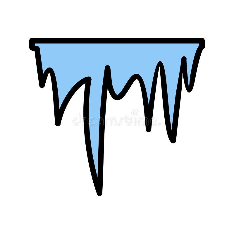 Icona di vettore del ghiacciolo illustrazione vettoriale