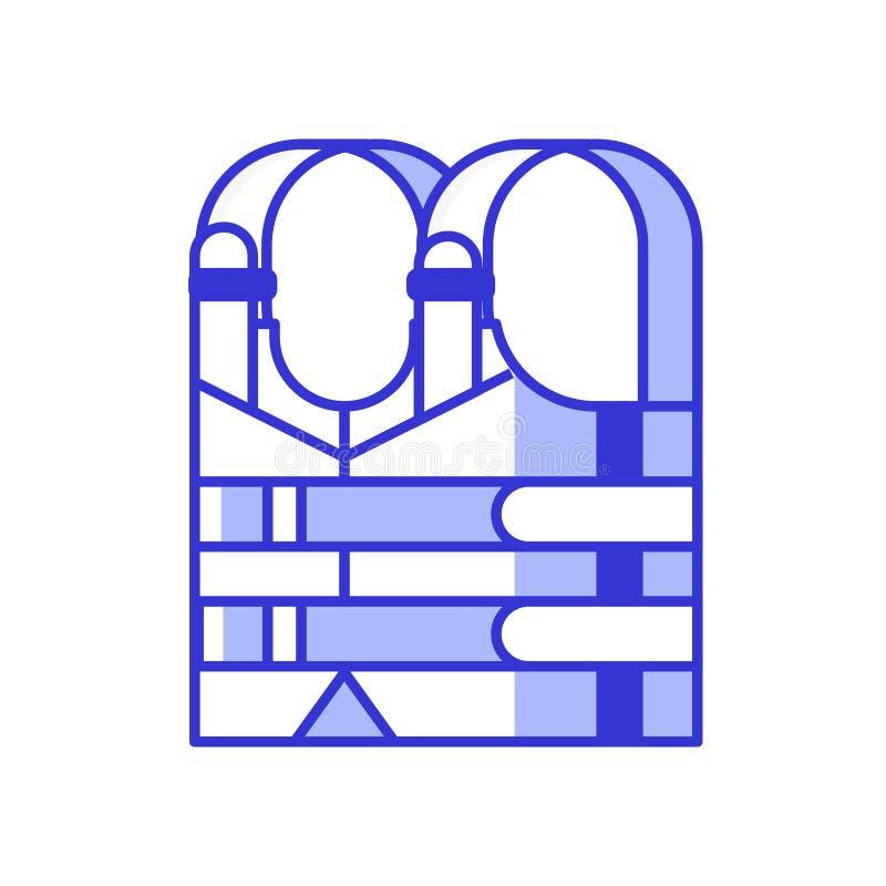 Icona di vettore del giubbotto di salvataggio royalty illustrazione gratis