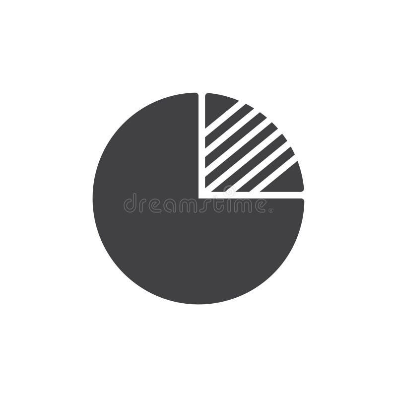 Icona di vettore del grafico di pi illustrazione di stock