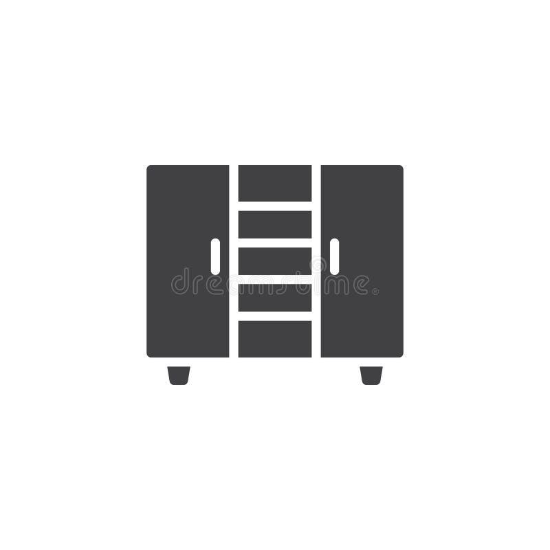 Icona di vettore del guardaroba illustrazione di stock