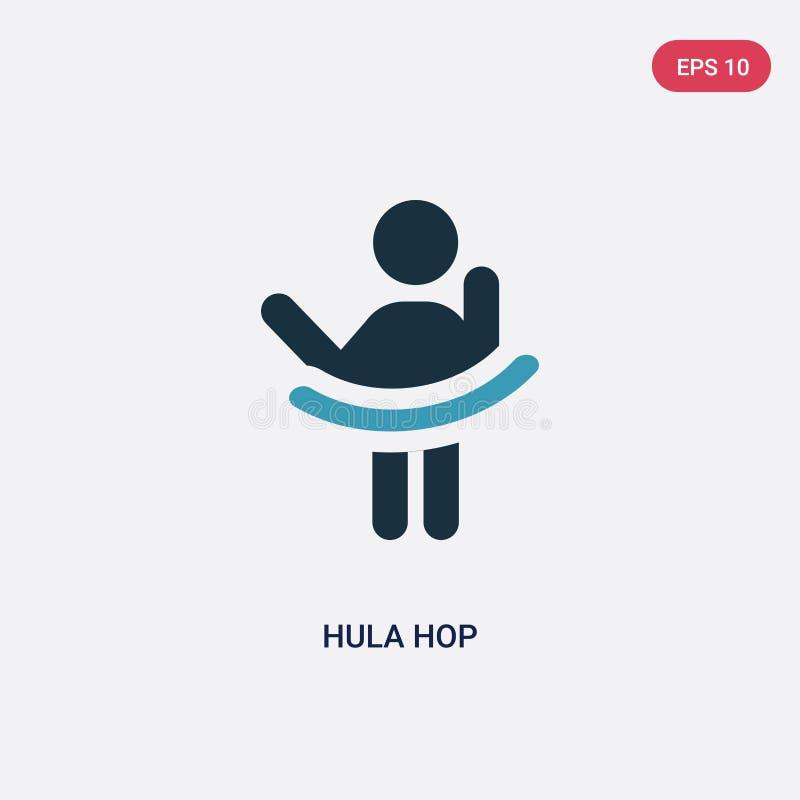 Icona di vettore del luppolo di hula di due colori dal concetto della gente il simbolo blu isolato del segno di vettore del luppo illustrazione vettoriale