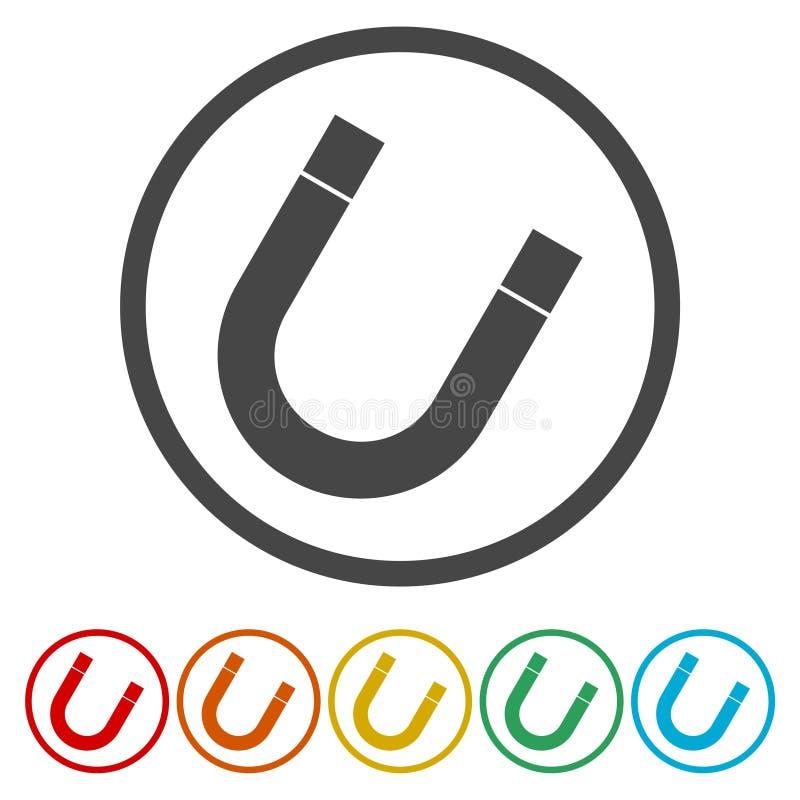 Icona di vettore del magnete Icona a ferro di cavallo illustrazione vettoriale