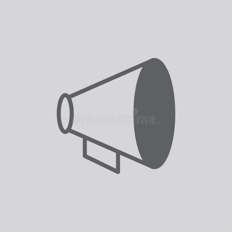 Icona di vettore del megafono illustrazione vettoriale