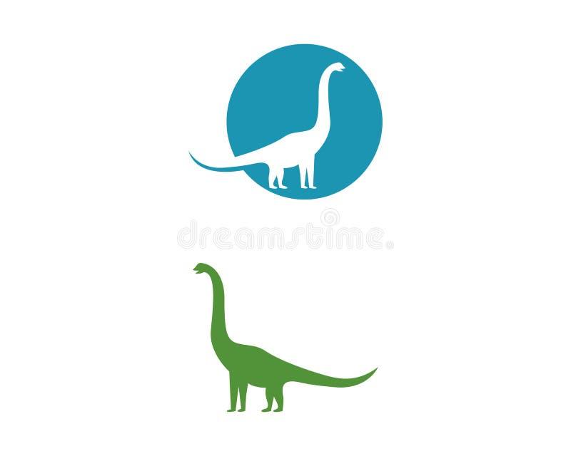 Icona di vettore del modello di logo del brontosauro illustrazione di stock