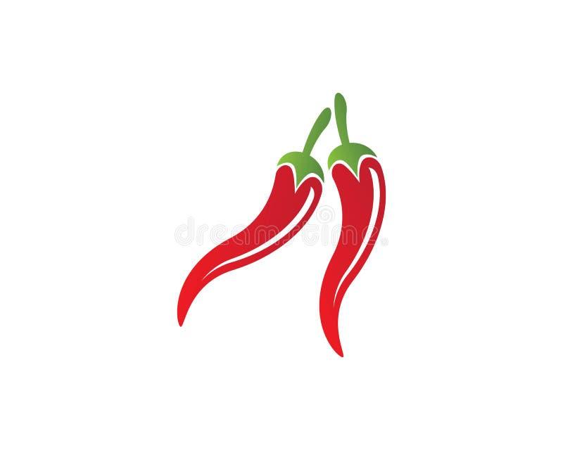 Icona di vettore del modello di logo del peperoncino rosso illustrazione di stock