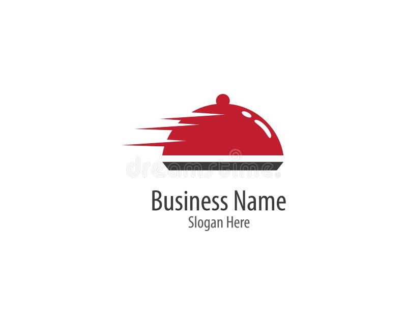 Icona di vettore del modello di logo del ristorante illustrazione di stock