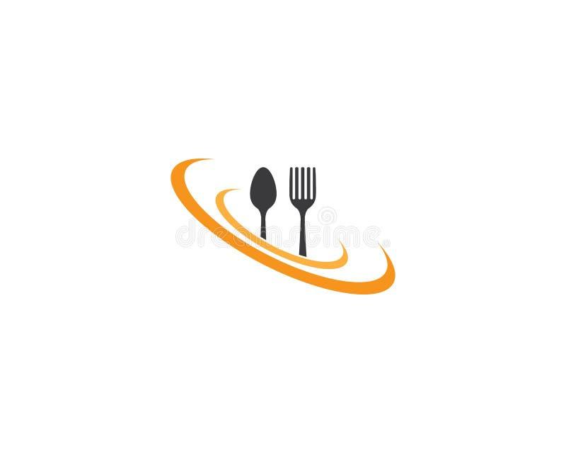 Icona di vettore del modello di logo del ristorante illustrazione vettoriale