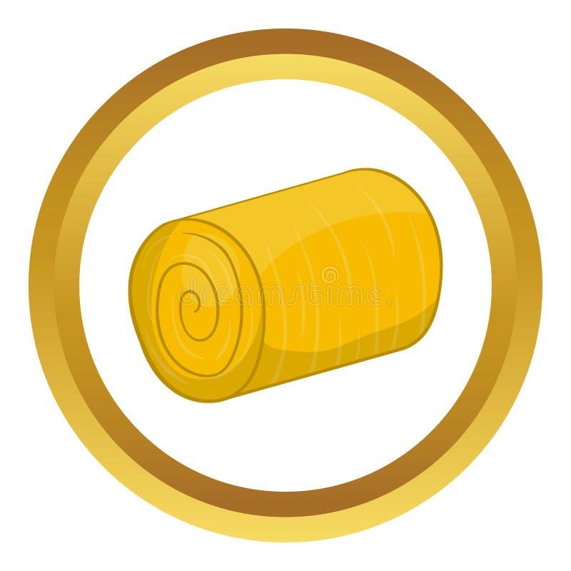 Icona di vettore del mucchio di fieno illustrazione di stock