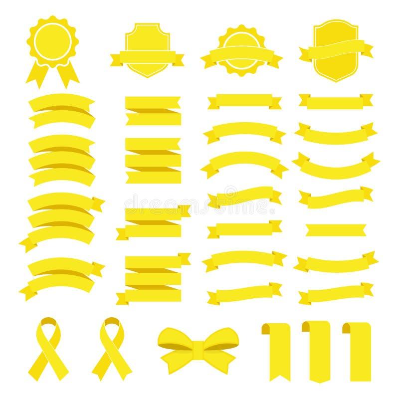 Icona di vettore del nastro messa su fondo bianco L'insegna della raccolta ha isolato l'illustrazione di forme del regalo e dell' illustrazione vettoriale