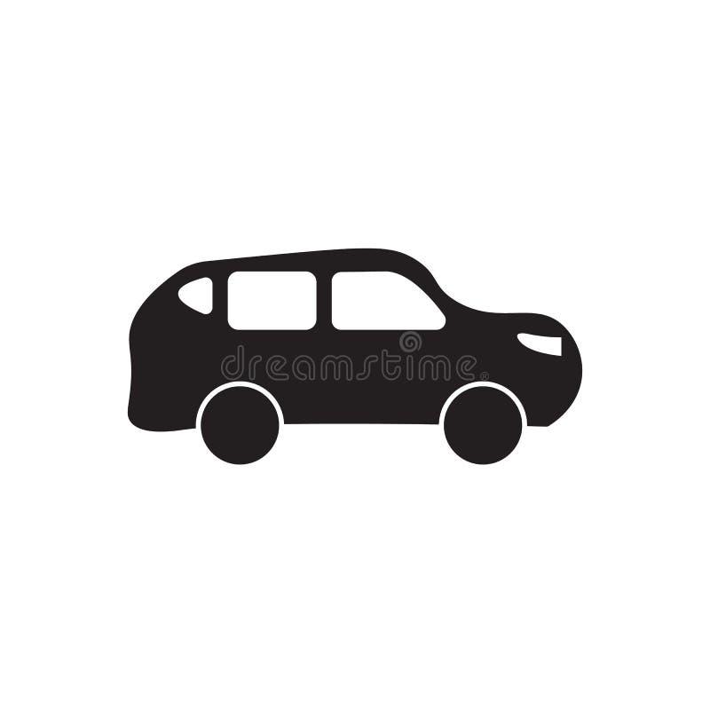 Icona di vettore del nero dell'automobile illustrazione di progettazione della siluetta illustrazione vettoriale