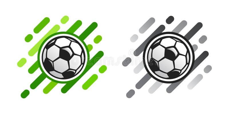 Icona di vettore del pallone da calcio su fondo astratto Icona di vettore della palla di calcio royalty illustrazione gratis