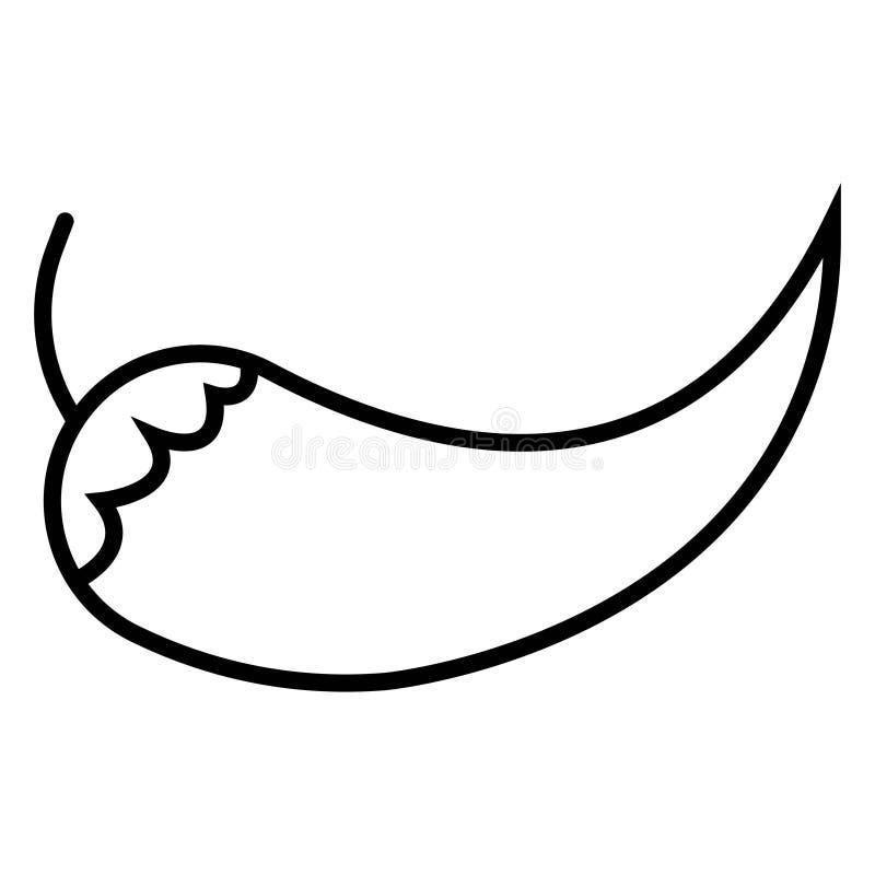 Icona di vettore del pepe, simbolo caldo Illus piano moderno e semplice di vettore royalty illustrazione gratis