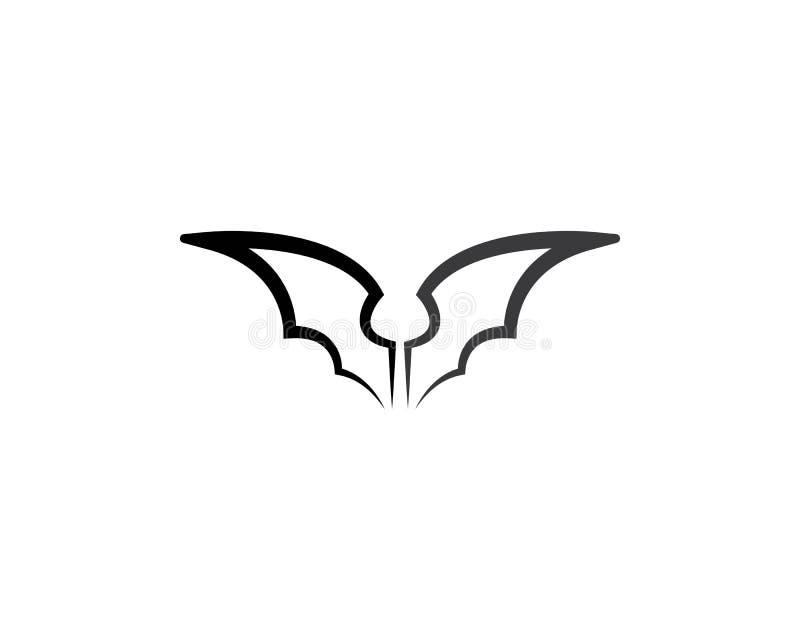 Icona di vettore del pipistrello illustrazione vettoriale