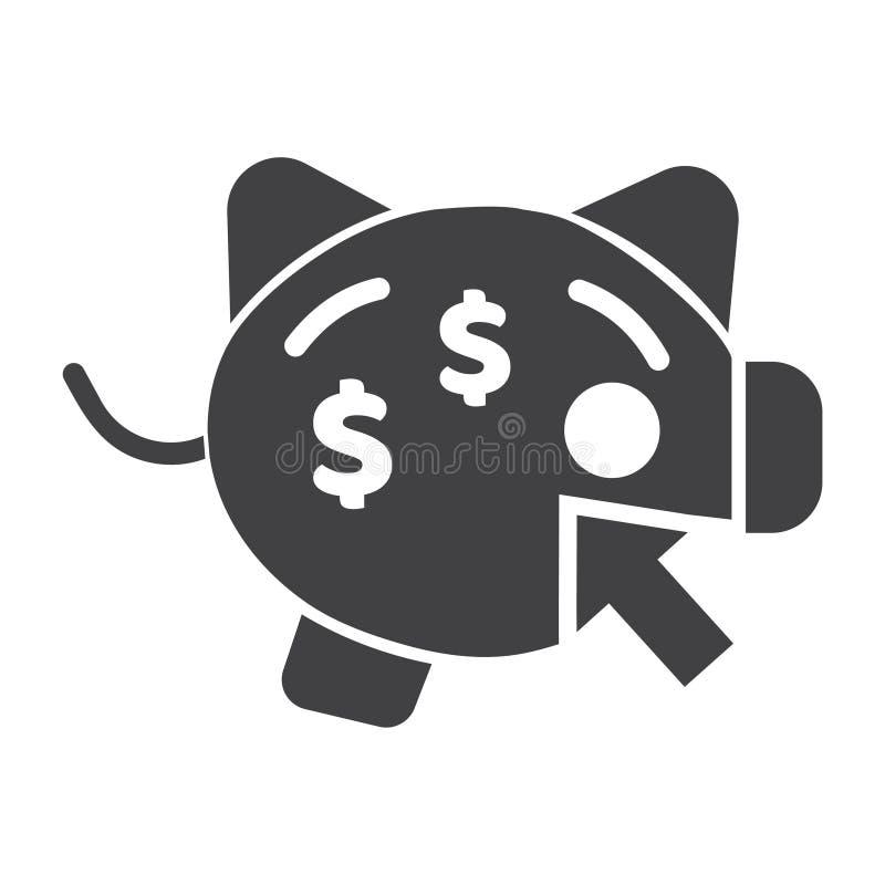 Icona di vettore del porcellino salvadanaio o di reddito contare il sito Web perfetto del porcellino salvadanaio o vettore mobile royalty illustrazione gratis
