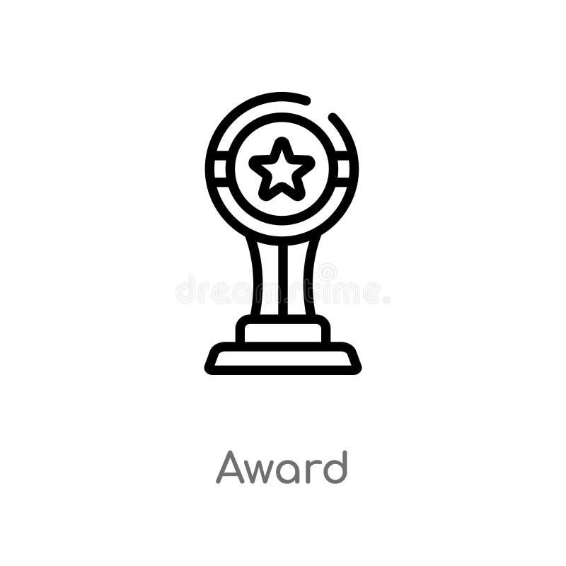 icona di vettore del premio del profilo linea semplice nera isolata illustrazione dell'elemento dal concetto del cinema icona edi royalty illustrazione gratis