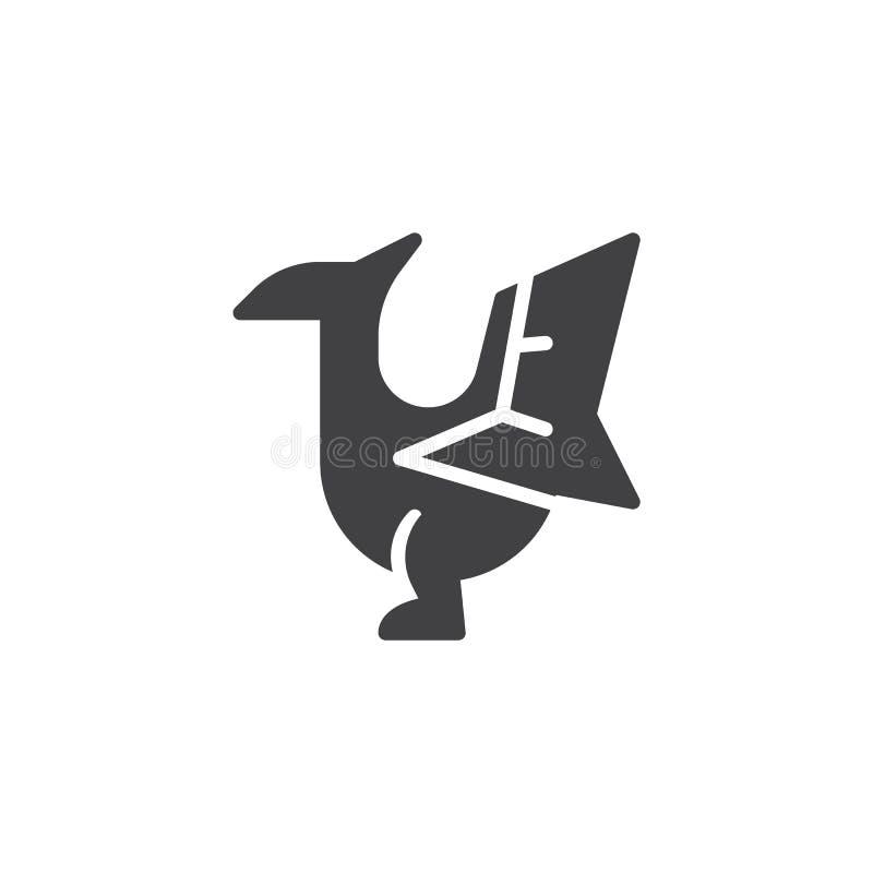 Icona di vettore del pterodattilo royalty illustrazione gratis