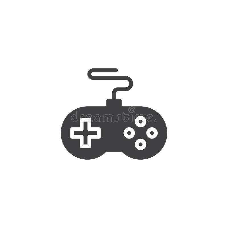 Icona di vettore del regolatore del gioco illustrazione vettoriale