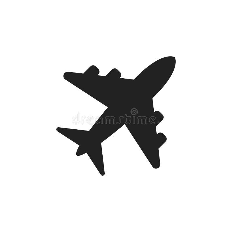 Icona di vettore del segno dell'aeroplano Illustrazione piana dell'aeroporto Affare illustrazione vettoriale
