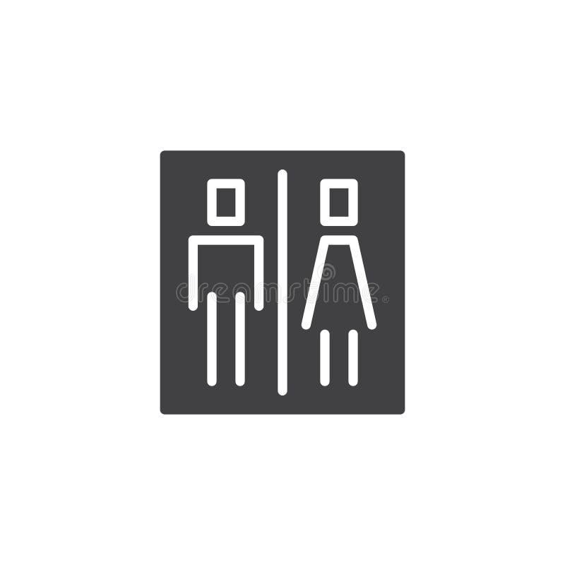 Icona di vettore del segno della toilette illustrazione vettoriale